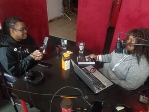 IC Bailey and BCANCC Host Sherley Joseph in the studio